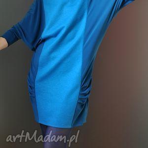 nietoperz błękitny - sukienka, dzienna, wieczorowa, kimono, wełniana