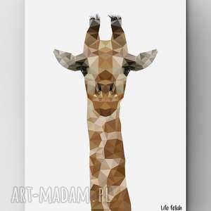 oryginalny prezent, żyrafa, plakat, zoo, lowpoly, wild, lifefetish