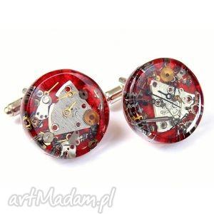 spinki - mechanical red, męska biżuteria