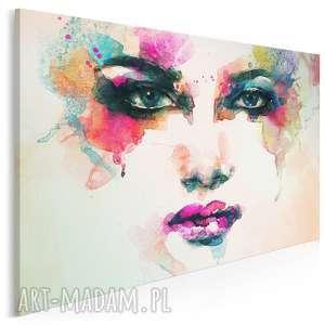 obraz na płótnie - kobieta kolory 120x80 cm (22601)