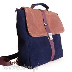 plecak torba granat-orzech, plecak, granat, torba, teczka, tornister, skóra