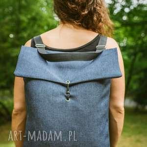 ręcznie wykonane plecaki plecako-torba niebieska