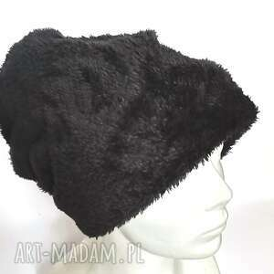 czapka ruska czarna futrzana uniwersalny, futro, folk, ciepla, etno, boho