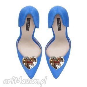 ozdoby do butów silver hearts - klipsy butów, serca, srebrne, ozdoby, buty