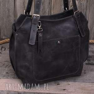 ręcznie robione na ramię robiona skórzana torebka szara, brązowa torebka, damska