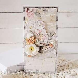 kartka ślubna w pudełku 590 vairatka handmade - wesele