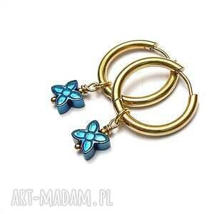 alloys collection /hematite flower/ - kolczyki