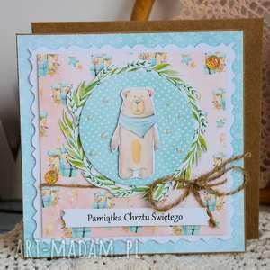 Kartka - pamiątka chrztu świętego 5 kartki maly koziolek kartka