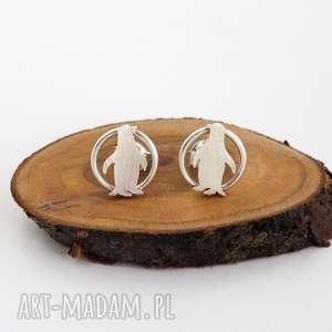 srebrne kolczyki pingwinki jachyra jewellery - srebrne, pingwiny, natura
