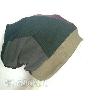 czapka damska etno boho folk box i1, spokojna, stonowana, jest swietna rozmiar