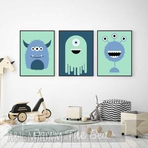 pokoik dziecka zestaw plakatów dla dzieci potwory a4, potwory, obrazki, plakaty