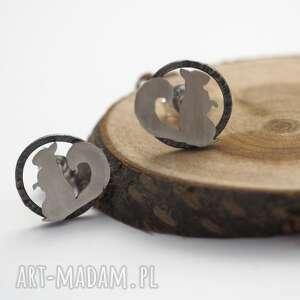 srebrne kolczyki wiewiórki srebro, boho, mini