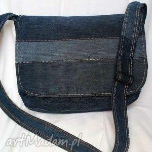 handmade torba męska z recyklingu jeansu