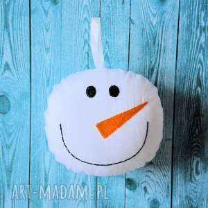 pomysł na prezent pod choinkę Zawieszka - bałwanek, śnieżka, zawieszka
