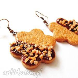 hand-made kolczyki kolczyki ciasteczka z orzechami