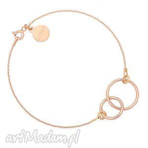 Bransoletka z różowego złota dwoma karmami, bransoletka, rozowezloto, karmy