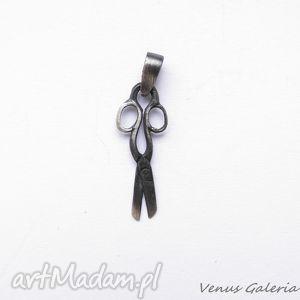 Zawieszka srebrna oksydowana- Nożyczki , biżuteria, srebro, wisiorek