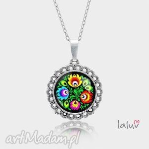 medalion okrągły mały folk love, folklor, polskie, wzory, ludowe, wycinanki, prezent