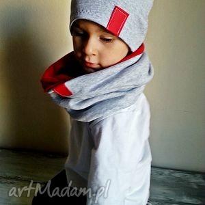 komplet dla chłopca bukiet pasji - kominy, szalik, czapki, czapka