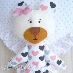 miś maskotka przytulanka - łóżeczko, niemowlę