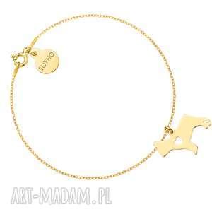 sotho złota bransoletka z psem rasy buldog francuski, zwierzak, pupil