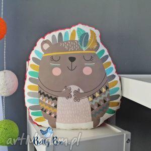 Poduszka przytulanka, indiański jeżyk, bawełna, minky!, indianin, poduszka