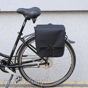 ręcznie zrobione podróżne sakwa rowerowa toskania czarna