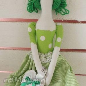 pod choinkę prezent, tilda zielona, tilda, lalka, lawenda, ozdoba, anioł