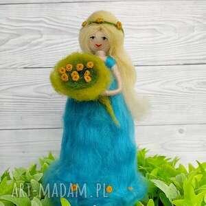 laleczka wiosna kwiatowa wróżka flora-dekoracja wiosenna z - laleczka z wełny