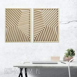 obraz z drewna, dekoracja ścienna /92 - waltruda, ażur dyptyk/