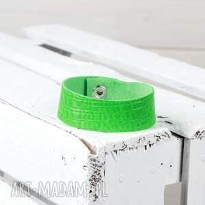 bransoletki zielona skórzana bransoleta, bransoletka, skórzana, zielona, zapinana
