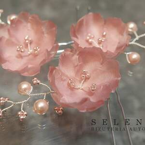 ręcznie robione ozdoby do włosów ślubne kwiaty