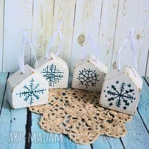 handmade dekoracje domki - bombki dodatkowe zamówienie. Aneta