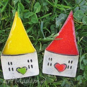 magnesy zestaw domków magnesy, ceramiczne, domki, domek, magnes, ceramiczny