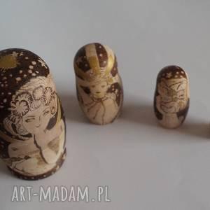 gwiaździste noce muchy - ręcznie wypalana drewniana matrioszka, matrioszka