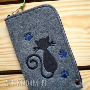 hand made etui filcowe na telefon - kotek