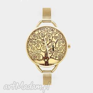 handmade zegarki zegarek z grafiką klimt tree of life