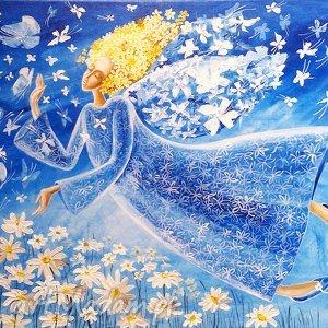 obrazy lekkość bytu 1, anioł, anioły, motyle, obraz, prezent, mikołajki