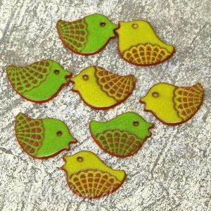 handmade ceramika ptaszki na magnes