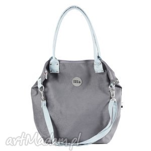 torba worek mysza light blue zipper, worek, mysza, prezent, handmade, manamana