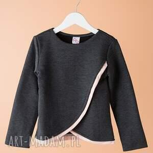 bluza db01g - stylowa, modna, bawełniana, wyjątkowa, dziewczęca