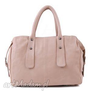 torba do ręki lub na długim pasku vera 13 beige pastelowy kolor, beżowa, pastelowa