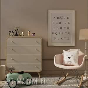 plakat personalizowany alfabet 50x70 cm - plakat dla dziewczynki, dla chłopca