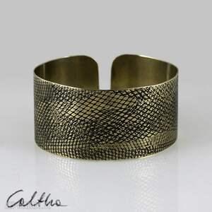 handmade wężowa - mosiężna bransoletka 150215 -01