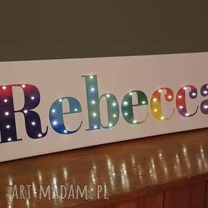 Prezent NAPIS LED Twoje Imię tęczowe świecące litery obraz dekoracja lampa