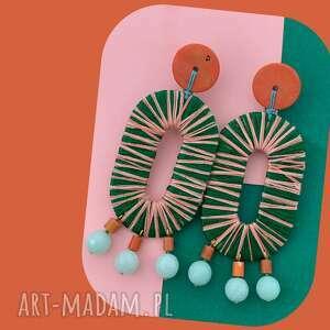 bead story kolczyki pati, oryginalne kolczyki, na sztyftach, kolorowe