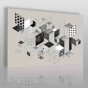 obraz na płótnie - skandynawski geometryczny wzory 120x80 cm 80401