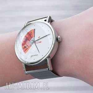 zegarek, bransoletka - japoński wachlarz metalowy, bransoleta