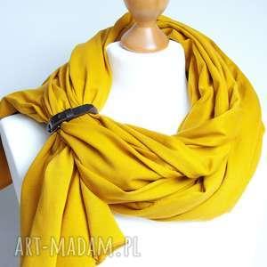 Szal szalik chusta bawełniana w kolorze CEYLON YELLOW, modny szal bawełniany