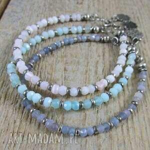 ręcznie wykonane opale naturalne - bransoletki 428